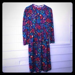5/$20 Vintage Blair Dress 14 colorful fun floral